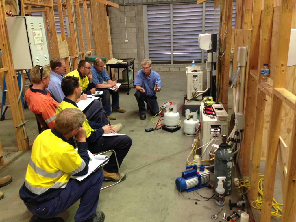 Students at our Brisbane refrigeration course