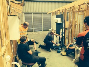 Students at our air conditioning course in Brisbane