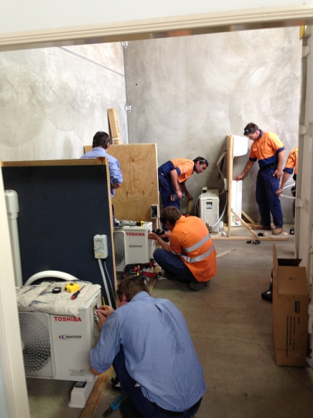 Get Skilled Training running our air conditioning course Brisbane wide with students.